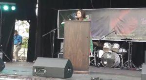 Juddhe Jacchi - Bengali poetry recitation by Nusrat Jahan Smriti at Bijoy Mela