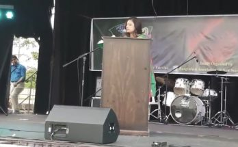 Juddhe Jacchi - Bengali poetry recitation by Nusrat Jahan Smriti at Bijoy Mela